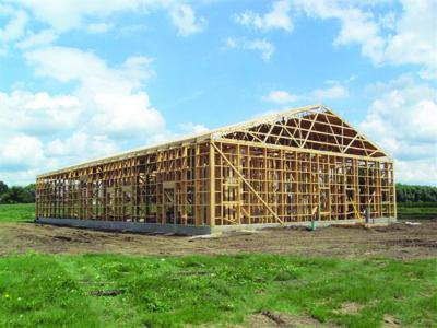 EPS manufactures ladder frame buildings as a post frame building option