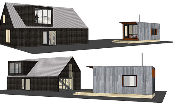 Idea Home Front and back Elevations